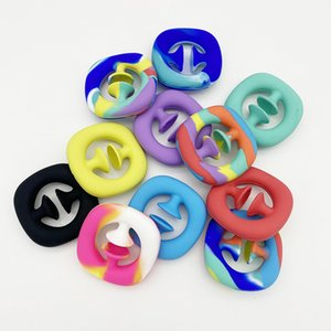 Silicone Fidget Toy Favors Snap Hand Grab Antistress Toys Autism Special Needs Stress Relief Calming Simple Dimple Fidgets Sensory