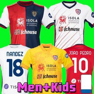 20 21 Cagliari Calcio soccer jersey home away shirt ROG NANDEZ JOAO PEDRO football jersey 2020 2021 Cagliari PAVOLETTI GODIN football shirt