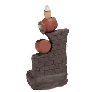 Purple Sand Smoke Backflow Incense Burner Pot By Pot Wall Censer Stick Incense Holder Creative Home Decoration 1366 V2