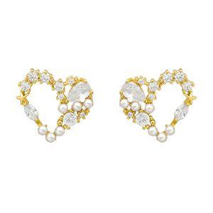 Love Pearl Stud Earrings Simple Cold Temperament Female 2021 Tide Personality Elegant Trend Earrings