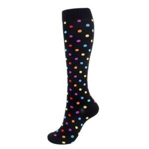 Compression Keen High Stockings Hosiery socks Pot Snowflake heart pattern Outdoor Sport Sock for women girls