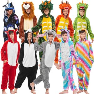 Clothing Sets New Winter Unicorn Pajamas For Children Kigurumi Animal Pyjamas Kids Panda Onesie Boys Girls Sleepwear Unicornio Q1215