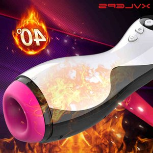 Xvleps Male Automatic Sucking Heating Vagina Masturbation Cup Real Blowjob Masturbator Sex Men Toys For Adults 18