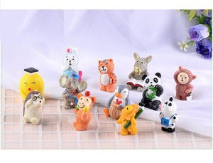 lovely animal mini cake toppers capsule toys microlandschaft mix items promotion gift