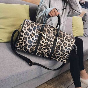 Fashion Travel Bag Women Duffle Carry on Luggage Bag Leopard Printing PU Leather Travel Totes Ladies Big Overnight Weekend Bags 210329