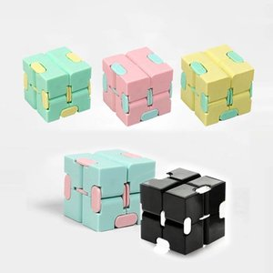 Infinity مكعب لون الحلوى تململ لغز مكافحة الضغط لعبة إصبع اليد المغازل المرح لعب للبالغين أطفال adhd الإجهاد هدية