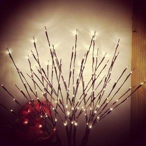 Строки Floral LED Willow Flate Frate Actificated 20 лампочки для домашнего рождественской вечеринки садовые украшения тумбочка ночной свет