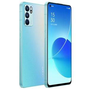 Original Oppo Reno 6 5G Mobile Phone 12GB RAM 256GB ROM MTK Dimensity 900 Octa Core 64MP 4300mAh Android 6.43 inch AMOLED Full Screen Fingerprint ID Face Smart Cell Phone