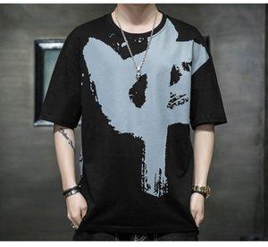 """Erkek T-Shirt T-shirt Çin Kaligrafi """"Zhongguo"""" Kelime Baskı T Gömlek Sevgililer Parti Hediye Çin Tarzı Moda Tişört 4XL"""