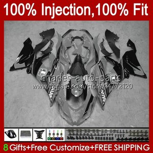 OEM Body For KAWASAKI NINJA ZX-636 ZX-6R ZX600 ZX 6R 6 R 636 600 CC 12No.124 ZX6R 13 14 15 2016 2017 2018 600CC ZX636 2013 2014 2015 16 17 18 Injection Fairings glossy grey
