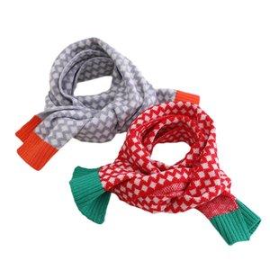 Kids Scarves Children Scarf Baby Ring Boys Girls Accessories Autumn Winter Keep Warm Knitted Wool Plaid B8954
