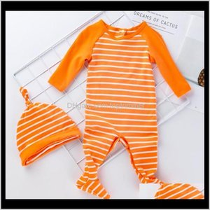 Footies Jumpsuits&Rompers Clothing Baby, Kids & Maternity Drop Delivery 2021 Baby Boy Girl Christmas Clothes Long Sleeve Cotton Sleepsuit Hom