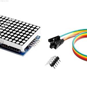 Integrierte Schaltungen Großhandel MAX7219 DOT-Matrix-Modul für Arduino-Mikrocontroller 4 in einem Display mit 5P-Linie E8KPV PCS5F