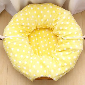 2-In-1 Cat Tunnel Bed With Soft Mat Toys Peephole Fun Ball For Indoor Pet Kittens Cute Style Cats Dogs Beds & Furniture