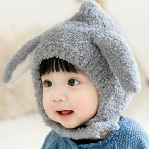 Caps & Hats Winter For Kids Girls Boys Baby Ears Knitted Hat Children Crochet Warm With Hooded Scarf Set