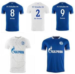 Mais novo 2021 Huntelaar Jerseys de futebol Kutucu 20 21 Serdar FC Schalke 04 Harit Men Futebol Camisa Ozan Home Azul Branco Jersey
