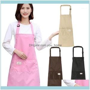 Textiles Home & Garden26 Adjustable Women Kitchen For Cooking Baking Barista Apron Waitressing Aprons Ladys Pinafore Thicken Restaurant Apro