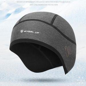 Motorcycle Helmets Windproof Cycling Cap Winter Thermal Fleece Bicycle Running Skiing Riding Hat Bike Headwear