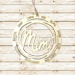 Personalized Name Christmas Decorations Ornaments 2021 Xmas Tree Hang Tag Pendant Pandemic Ornament Commemoration DHD10671