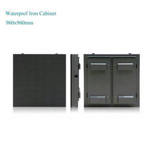 Roadside Advertising P10mm Led Large Outdoor Display 960x960mm Iron Cabinet Digital Signage Displays