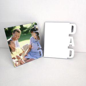 Süblimasyon Fotoğraf Çerçeveleri MDF 3 Stilleri El Sanatları Süblimasyon Boş Grad Resim Anneler için Rahmen Babalar Günü Hediyeler Masaüstü Dekorasyon 665 S2