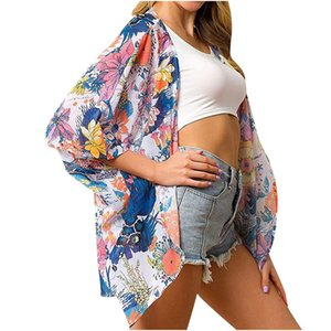 Pamuk 2021 Bikini Kapak-UPS Siyah Retro Çizgili Kendi Kemtili Kadınlar Yaz Kimono Elbise Plaj Kıyafetleri Yüzme Takımı Kapak Up Dış Giyim Kadın Swimwea