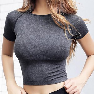 NEPOAGYMY NEPOAGYMY Femmes sèches rapides Cropped sans soudure manches courtes TOP WORKEND WORKS WORKS TOPS EURPORT POUR FEMMES FEMMES FEMMES SEXY T-shirt Z1125