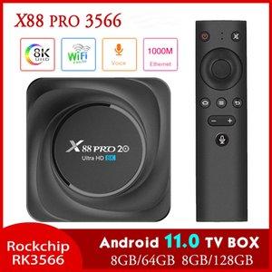 X88 PRO 20 TV Box Android 11 8GB RAM 128GB ROM Rockchip RK3566 8K Media Player Google 1000M 4GB32GB