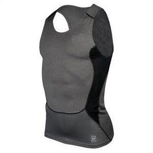 Wholesale-Men Compression Tight T-Shirt Base Layer Fitness Gym Workout Vest Tank Tops S-XXL DFF0660