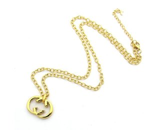 2021 High Quality Extravagant Fashion large G pendant extra long Sweater chain necklace Stainless Steel Gold silver rose filled For girls Women wholesale Jewelry