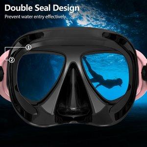Copozz New Professional Acuba Mask Mask Snorkel Goggles Goggles Goofes Tube Set Мужчины Женщины Силиконовые Оборудование Бассейн Цилькскс Yyysports