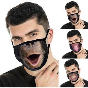 Новая 3D печатная хлопковая маска, теплый пылезащитный зимой, модная, дышащая и моющаяся маска