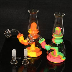 Hookahs Silicone Nectar Kit de Colecionador Concentrado Tubulação de Fumaça com 14mm GR2 Titanium Dica Dab Stray Rigs DHL