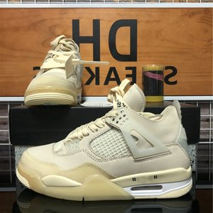 Chegada White Sail Kaws Mens Jumpman 4 4s High Shoes Rasta Travis Scotts Roxo Se Neon Tour Amarelo Womens Sneakers