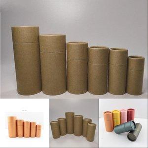 50PCS 30ml Kraft paper Tube Oil bottle packaging Cardboard Jar for gift jewelry cosmetics essential oil Bottles round packaging11 664 S2