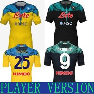 2021 Boca Juniors Than Away Soccer Jerseys 115th Anniversary 115 Anni speciali Versione giocatore Tevez Maradona Carlitos Gago Blue de fútbol uomo + camicia per bambini