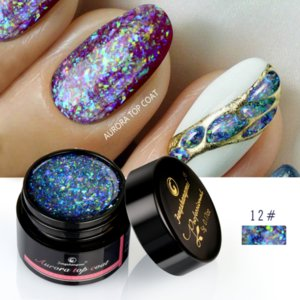 5g Aurora Gel Nail Polish Top Coat Hybrid Gel Varnish Clear UV Gellak Glittler Lacquer Art Vernis Semi Permanent