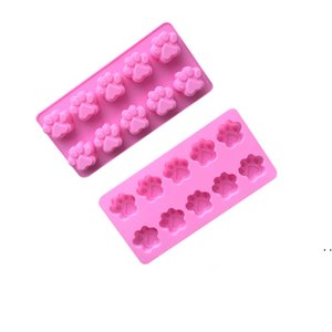 10 Grids Silicone Cat Paw Bear Paws Shaped Cake Moulds for Sponge Cakes Mousse Chocolate Dessert Bakeware Pastry Mould OWD6204