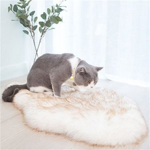Pet Dog Bed Mat Curve White Dog Rug Faux Fur Orthopedic Dog Bed For Big Medium Small Puppys Support Dropping Shipping 201124 906 R2