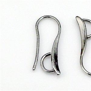 100x DIY Faire 925 Sterling Silver Bijoux Constatations Crochet Boucle d'oreille Pinch Pinch Bail Fils d'oreille pour cristal Perles 1132 Q2