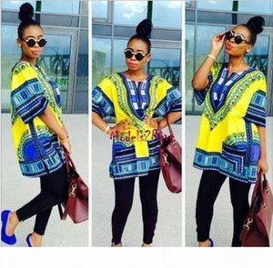 African Dashiki Dresses For Women Men African Clothes hip hop T Shirt Caftan Vintage Fashion Tribal Mexican Top Ethnic Clothing