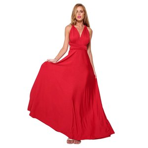 Summer Sexy Women Maxi Red Infinity Long Jurk Multiway Bridesmaids Convertible Wrap Party Dresses Robe Longue Femme