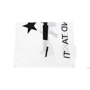 50 pcs direto fábrica atacado 90 * 150cm 3x5fts Gonzales Histórico M4 Carbin Gun Molon Labe Venha e pegue a bandeira OWE5571