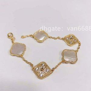 Bracelet love Bangles Charm Bracelets cleef Earring Screw bracelet Couple Gift van women Designer Jewelry carti rings [With box] a26