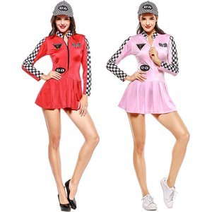 American female athletes baseball two-color game uniform cheerleading racing suit European size
