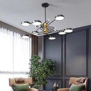 Chandeliers Postmodern Light Luxury Crystal Chandelier Simple Atmospheric Living Room Warm Romantic Bedroom Creative LED