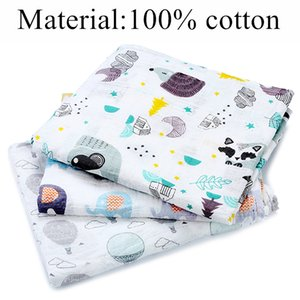 Drop Shipping Muslin 100% Cotton Baby Swaddles Newborn Soft Blankets Colorful Infant Wrap Sleepsack Swaddleme Manta
