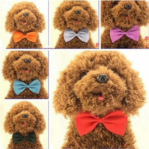 19 Colors Adjustable Pet Bow Dog Tie Collar Flower Accessories Decoration Color Bowknot Necktie Grooming Supplies 330 S2 XG0H