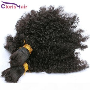 Peruvian Afro Kinky Curly Bulk Braiding Hair For Wholesale 100% Human Bulk Curly Hair Extensions No Attachment Hair Mink Bundles