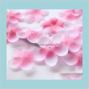 Decorative Flowers & Wreaths Festive Party Supplies Home Garden Simulation Cherry Blossom Petals Wedding Rose Fake Artificial Flower A